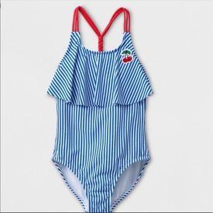 EUC Adorable One Piece Swimsuit . Girls 10/12